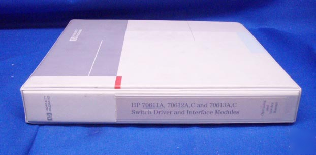 Hp 70611A 70612A,c 70613A,c operating & service manual