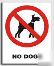 No dogs sign-semi rigid-300X400MM(pr-024-rm)