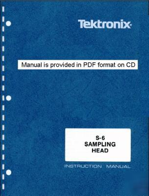 Tek tektronix S6 s-6 service & operation manual