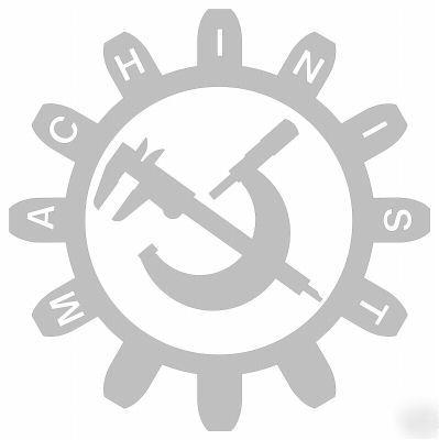 Machinist Logo Decal Sticker Micrometer Caliper