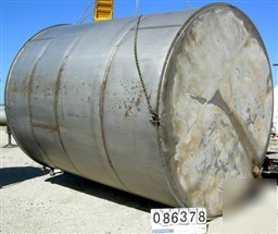 Used: tank, 10,000 gallon, 304 stainless steel, vertica