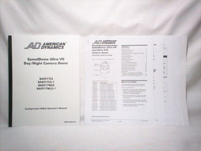 American dynamics speeddome ultra vii manual RAS917LS