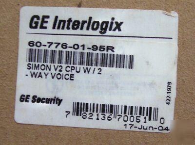 Ge Simon Iti Wireless Alarm System V2 Cpu 2way Voice